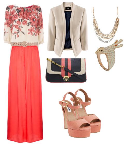 Risultati immagini per outfit estivo corallo